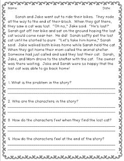 Printables Second Grade Reading Comprehension Worksheets 1000 ideas about reading comprehension worksheets on pinterest resource 3 reflection this is good to use with students it gives a passage and asks questions that you can answer a