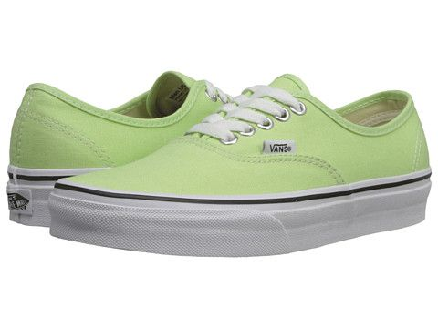 Vans Authentic™ Paradise Green/True White - Zappos.com Free Shipping BOTH  Ways
