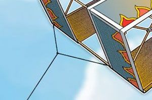 Most altitude records for kite flying are held by box kites. Here's how to make a high-flying box kite with easy-to-find materials.