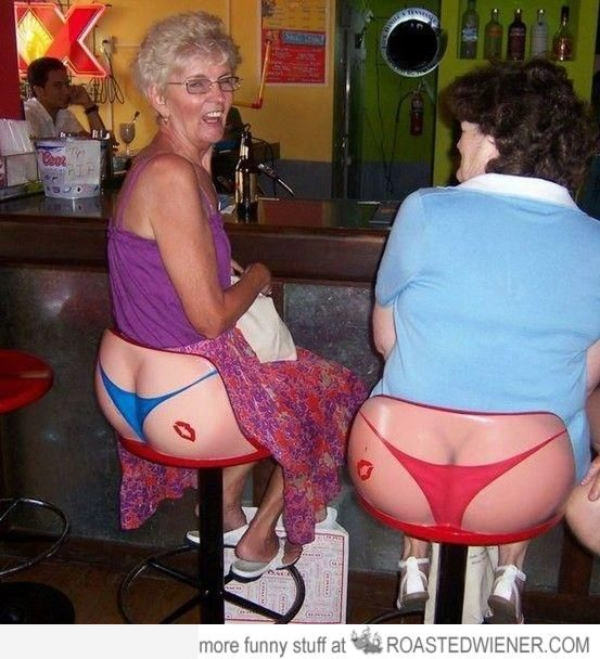 nice ass granny try not to laugh or at least smile