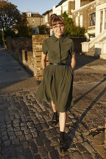Koshka Green Dress, Dr. Martens Dr Martens Shoes