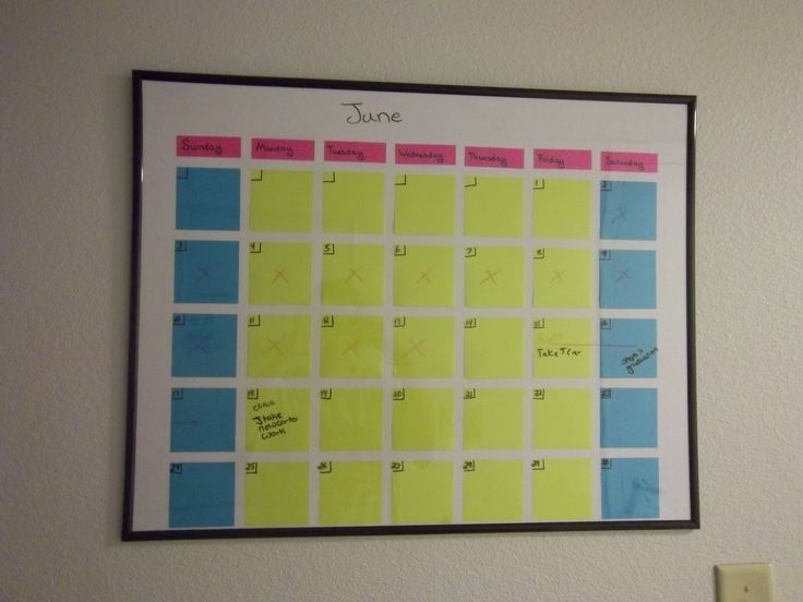 Post it notes can be used to make awesome calendars