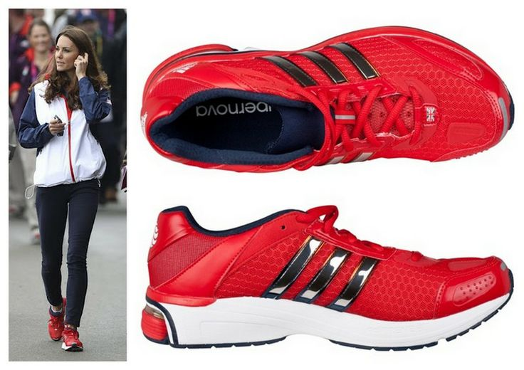 Catherine wore the Team GB Adidas Supernova Glide 4 Running Trainers London 2012 Olympics August 5, 2012.