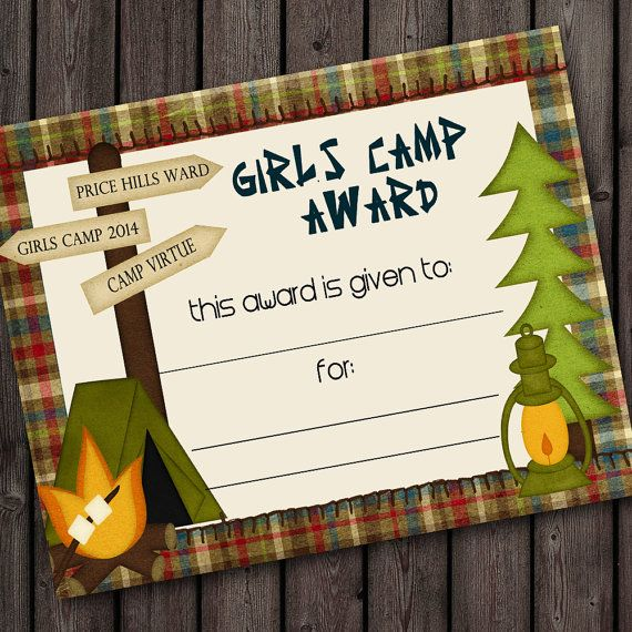 Hey, I found this really awesome Etsy listing at https://www.etsy.com/listing/191005038/girls-camp-certificate-printable-award