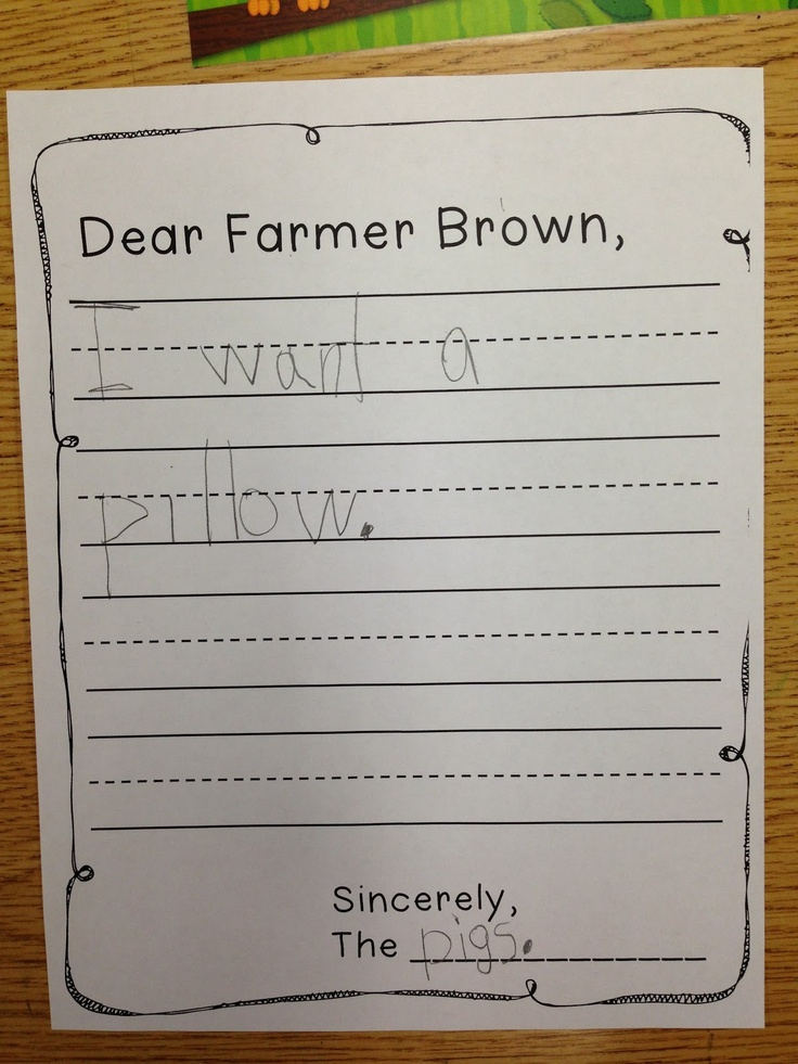 this is a fun way for the class to write a letter to a farmer from the perspective of an animal this practices writing skills and perspective for language
