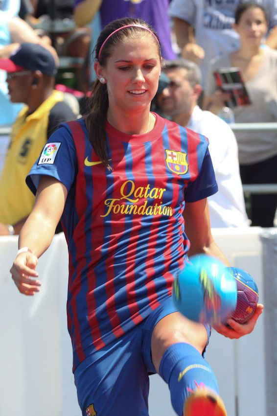 Alex Morgan... not just cause she's a football star, or a Barcelona fan