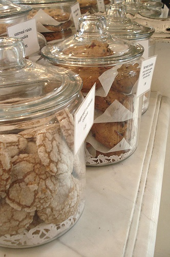 Glass Cookie Jars by such pretty things, via Flickr