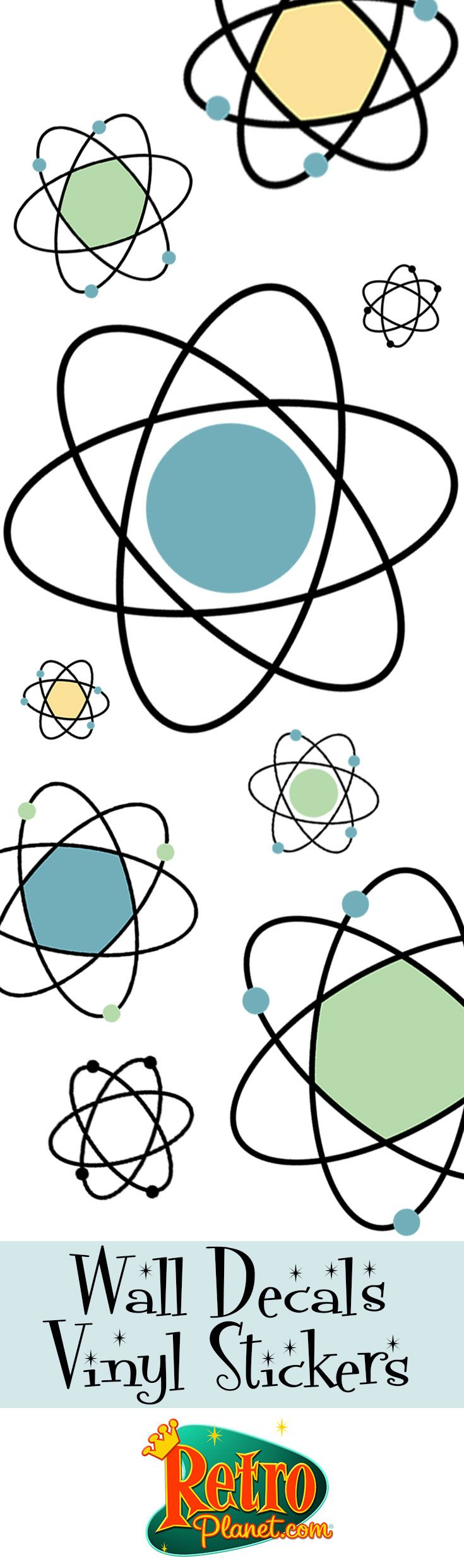 Atomic Symbols Wall Decals