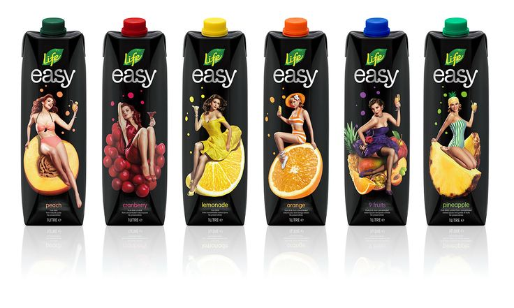 Life Easy | Juice packaging for professional use on Behance