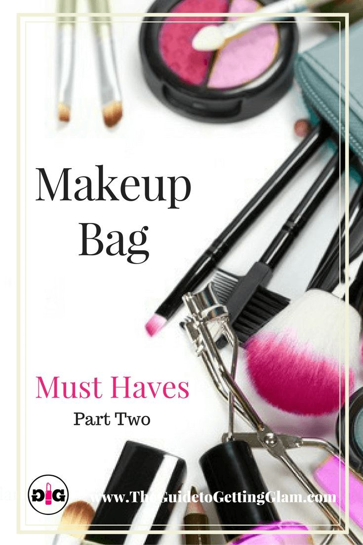 Makeup tip: What products should you carry in your makeup bag? Click find out what key cosmetics are recommended by a makeup artist for makeup on the go. #makeup #makeuptip #makeupartist #makeupbag #glam #theguidetogettingglam