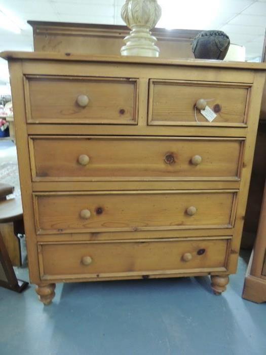 Found On Estatesales Net Rustic Pine Dresser Rustic Pine Estate Furniture Pinterest Pine