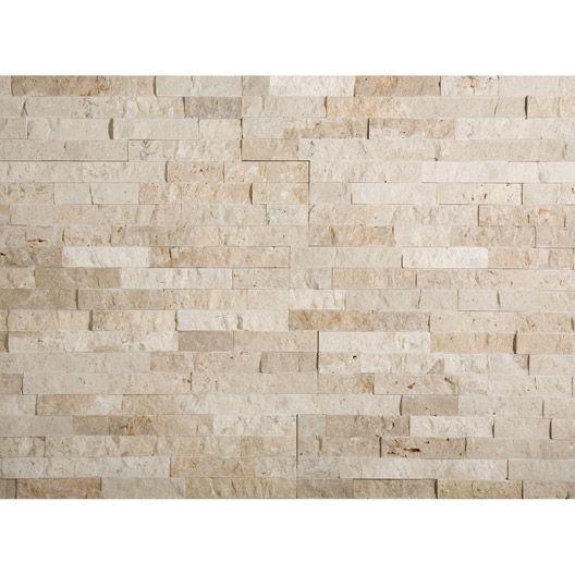 plaquette de parement nora travertin en pierre naturelle beige matiere pierre pinterest. Black Bedroom Furniture Sets. Home Design Ideas