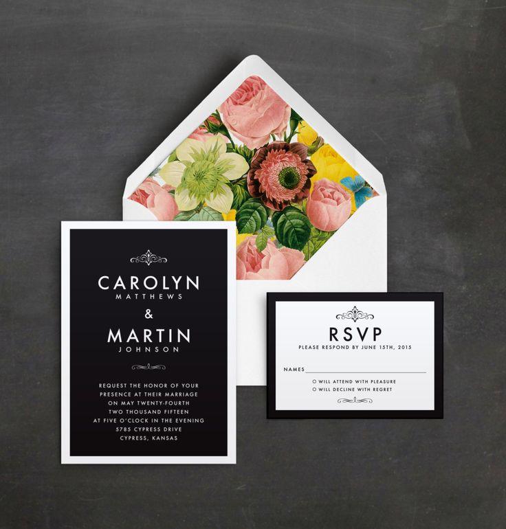 sample wedding invitation letter for uk visa%0A Modern Elegant Wedding Invitation Sample by QuiteFetchingInvites