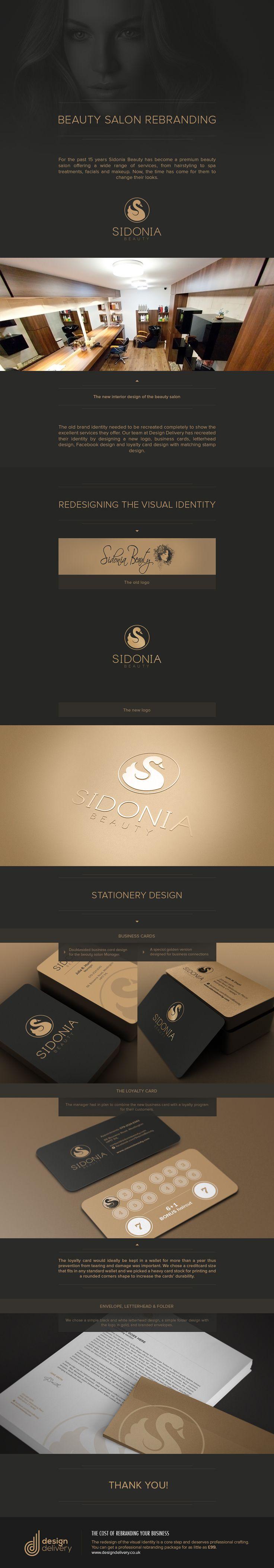 Case study: logo redesign for beauty salon #logo #swan