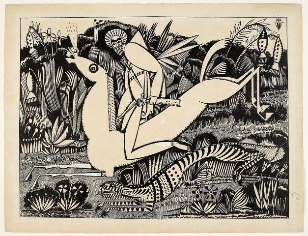 Amadeo de Souza-Cardoso LE TIGRE (Desenho original para o album XX DESSINS,1912), 1912