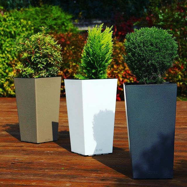 This planter can be a great decoration for your home or patio. Regardless if you grow flowers or mini trees. Check it out on http://bit.ly/PlastkonElise⠀ ⠀ Flower pot Elise⠀ 6 colors (glitter-anthracite, taupe, white, pea-green, fuchsia, turquoise) and 4 sizes (15, 20, 25 and 30 cm)⠀ #gardening  #Regram via @plastkon
