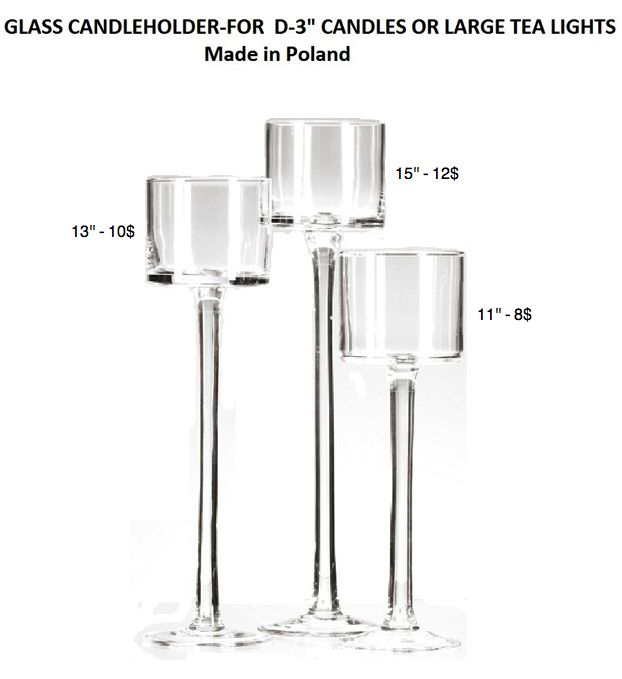fotted glass candleholder