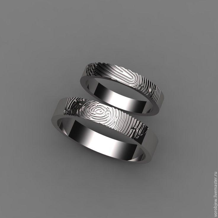 Купить Обручальные кольца с отпечатком пальца - золотой, обручальные кольца, обручальное кольцо, отпечаток