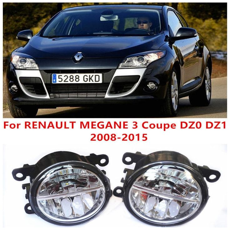 29.67$  Watch here - http://alio4i.shopchina.info/1/go.php?t=32580878481 - For RENAULT MEGANE 3 Coupe DZ0 DZ1  2008-2015 Fog Lamps LED Car Styling 10W Yellow White 2016 new  #buyininternet