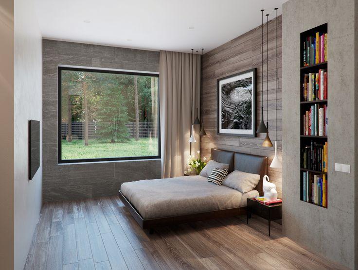 natural-wood-paneling נישת עץ בתוך בטון