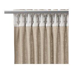 """AINA Curtains, 1 pair, beige - 57x98 """" - IKEA"""