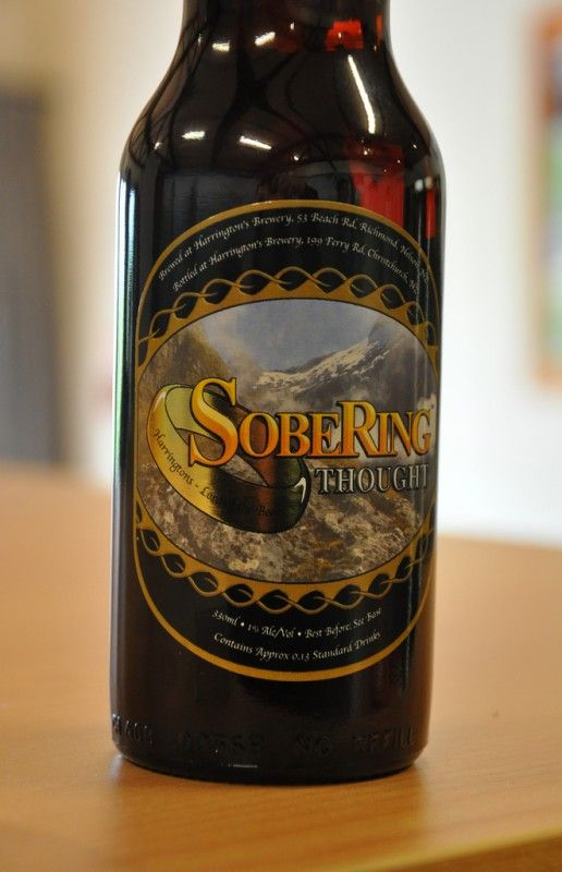 Harringtons: SobeRing Thought (New Zealand: Low Alcohol Stout: 1% ABV). This is the official brew enjoyed by the actors in the Lord of the Rings trilogy.