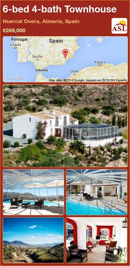 6-bed 4-bath Townhouse in Huercal Overa, Almeria, Spain ►€289,000 #PropertyForSaleInSpain
