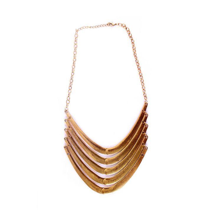Collar Retro Oro Envejecido, Fortuna