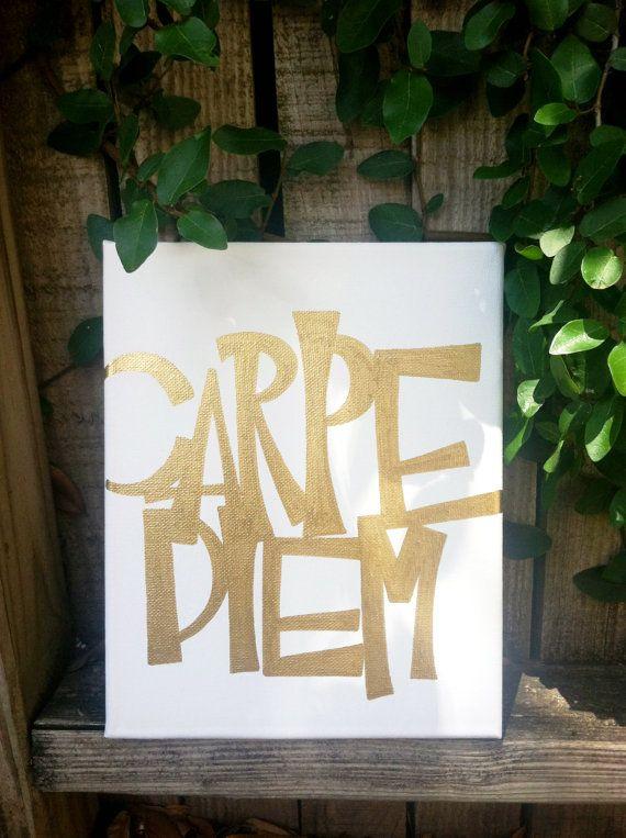 Carpe Diem Goldleaf Script Sign