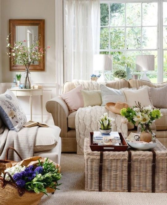 Find this Pin and more on Rooms I Love. Neutral Traditional Living Room  with Wicker Trunk ... - 25+ Best Ideas About Transitional Decorative Trunks On Pinterest