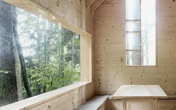 House for the Forest Owls Cabin by Bernd Riegger