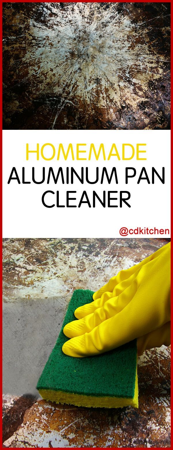 Homemade Aluminum Pan Cleaner - Recipe is made with soap flakes or soft soap, cream of tartar, baking soda, vinegar | CDKitchen.com