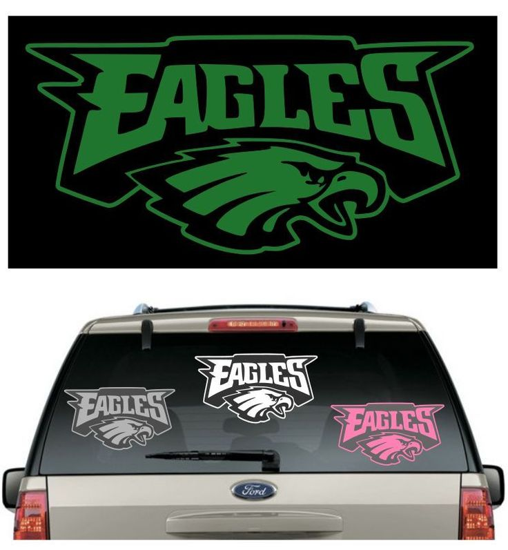 Eagles car decal various sizes color window sticker helmet flag