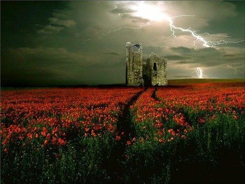 Castle Lightning, Wales...