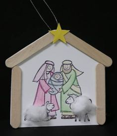 Nativity Scene | 25+ DIY Christmas Crafts for Kids to Make