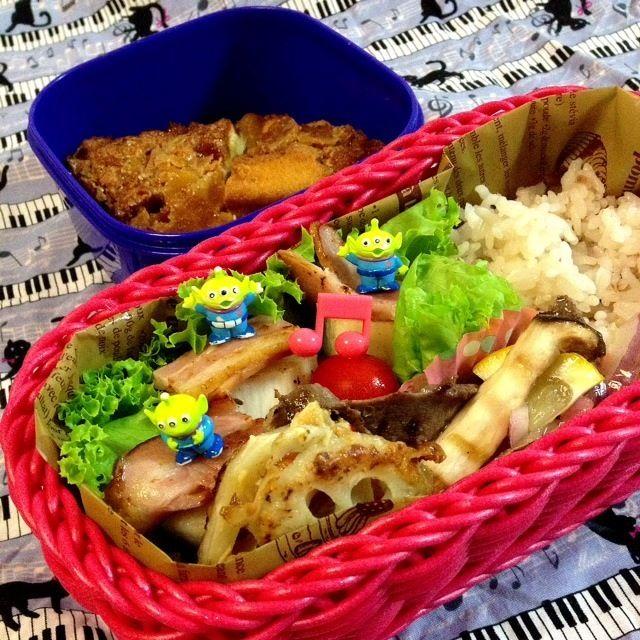 ・あきこちゃん!牛タンマリネ ・レンコンきんぴら ・長芋とベーコンソテー ・リンゴのケーキ - 163件のもぐもぐ - 女の子弁当♪                                   牛タンのマリネ by 1125shino