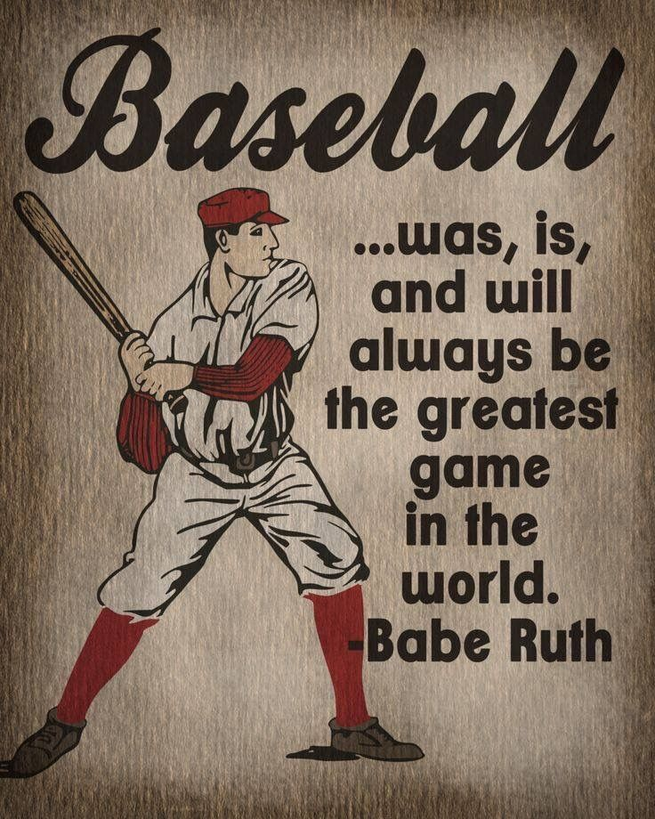 Vintage Baseball Room Decor Quotes Art Stuff Babe Ruth Softball