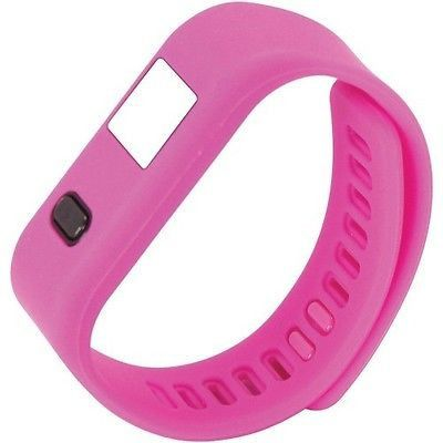 NAXA NSW-13 PINK LifeForce+ Fitness Watch for iPhone(R) & Android(TM) (Pink)