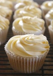 White Russian Cupcakes in a Row