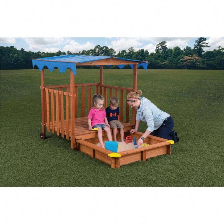 Creative Cedar Designs Sand N Shade Outdoor Playhouse and ...