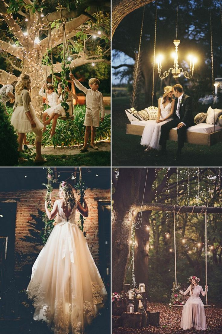 Ideas for a romantic lighting at a wedding in the forest with fairy tale fairies