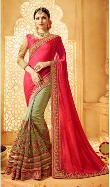 Pink Color Silk Embroidery Designer Saree | FH583986194 Follow us @heenastyle #saree #sari #sarees #sareelove #sareeindia #indiansaree #designersaree #sareeday #silksaree #lehengasaree #designersarees #sareesilk #weddingsaree #sareeblouse #sareefashion #ethnicwear #georgette #partywear #latestfashion #latestdesign #newfashionsaree #newdesigsaree #goldenbordersaree #instafashion #designersaris #heenastylesaree #heenastyle