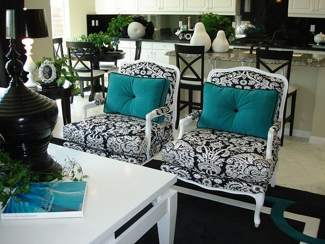 Black White Turquoise, Black White And Turquoise Living Room Ideas