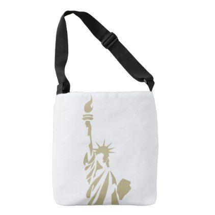 Statue of Liberty - New Colossus Patriotic Poem Crossbody Bag - accessories accessory gift idea stylish unique custom