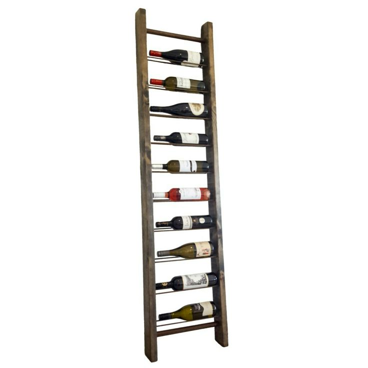 Grapes and Ladders - rustic timber wine display