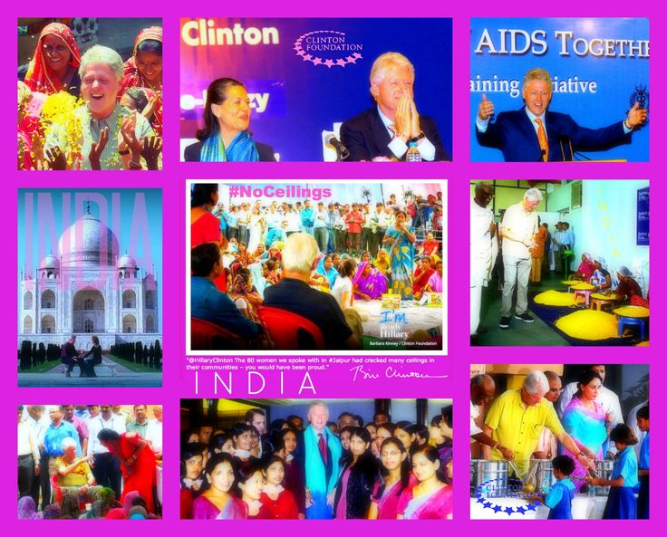 #PresidentClinton twitted #Hillary2016 w/ #TheTalk on 80 #NoCeiling's #India #WOMEN http://blogs.wsj.com/indiarealtime/2014/07/15/bill-clinton-returns-to-india-to-promote-health-and-food-projects #FS #SNL #MindyKaling