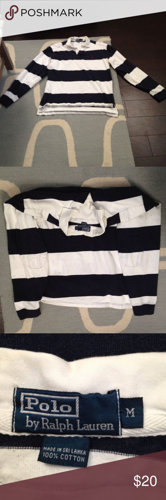 Men's long sleeve Polo shirt- GREAT CONDITION! Men's long sleeve Polo by Ralph Lauren shirt. Minimal padding over shoulders and elbows, very solidly constructed! Polo by Ralph Lauren Shirts Polos