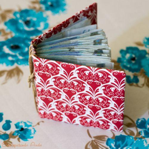 Si vas a regalar dinero haz un libro con las hojas como billetes. Muy original!