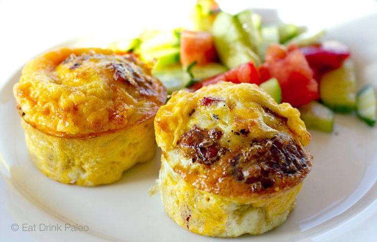 Egg Muffins with Onion Salami and Halloumi | http://eatdrinkpaleo.com.au/egg-muffins-with-onion-salami-halloumi/