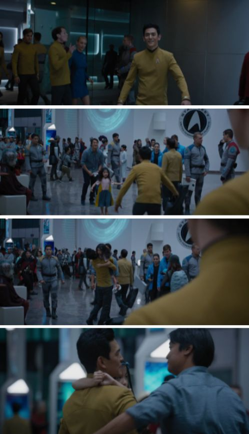 Star Trek Beyond | Sulu, Ben & Demora. His little daughter is so cute!!